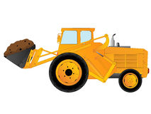 Earth mover. Excavator, earth mover over white background Royalty Free Stock Photography