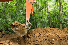 Earth Mover In Forest Stock Photography
