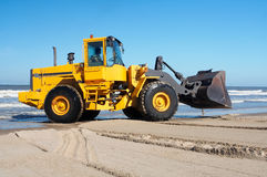 Earth mover at sea Stock Photography