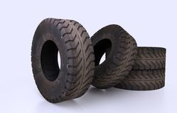 Earth Mover Tire Molds Royalty Free Stock Image