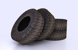 Earth Mover Tire Molds Royalty Free Stock Photos