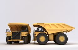 Earth mover vehicle. 3D illustration of  earth mover vehicle Stock Image