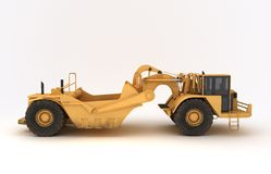 Earth mover vehicle. 3D illustration of  earth mover vehicle Royalty Free Stock Images
