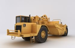 Earth mover vehicle. 3D illustration of  earth mover vehicle Royalty Free Stock Photos