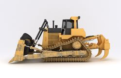 Earth mover vehicle. 3D illustration of  earth mover vehicle Royalty Free Stock Image