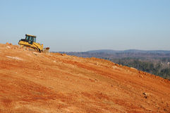 Earth Movers. On a hill Royalty Free Stock Photo
