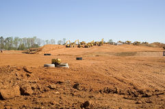 Earth Movers. Clearing land Royalty Free Stock Photo
