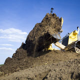 Earth moving bulldozer  Stock Photo