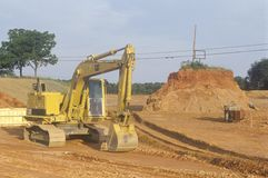 Earth moving equipment in Appomattox, Virginia Royalty Free Stock Images