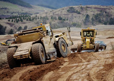 Earth moving equipment at work Stock Photos