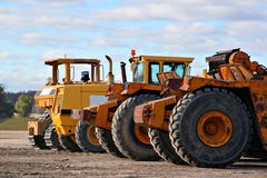 Earth moving equipments Stock Photo