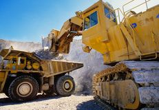Earth moving heavy equipment Royalty Free Stock Photos