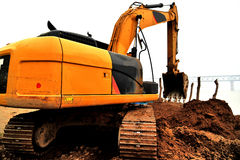 Earth-moving machine Royalty Free Stock Images