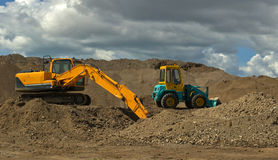 Earth Moving Machinery Royalty Free Stock Photography