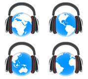 Earth music. Front view Stock Photography