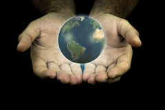 Earth in my hands Royalty Free Stock Image