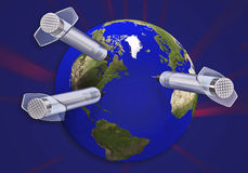 Earth & needle 3d concept Stock Photo