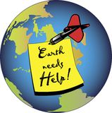 Earth needs help Royalty Free Stock Images