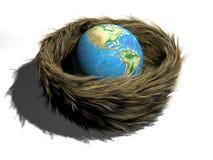 Earth in nest stock illustration