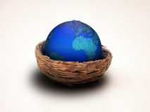 Earth Nest Hatching. Hatching Earth in nest stock images