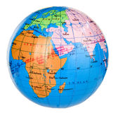Earth new 2. Miniature of the earth on white background with clipping path stock images