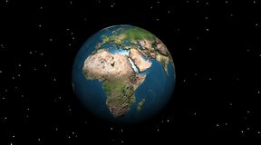 Earth in the night. Earth in the starry night Stock Images