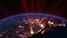 Earth night. Asia. stock footage