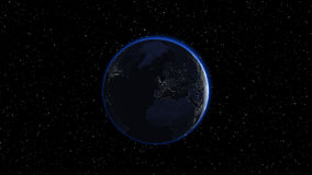 Earth in night sky Royalty Free Stock Photo