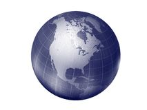Earth - north america. 3d render of globe looking on north america continent Stock Image