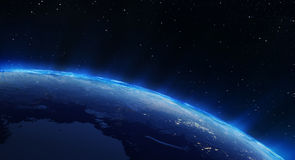 Earth north city lights Royalty Free Stock Photography