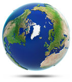 Earth north 3d map - Arctic Stock Image