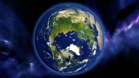 Earth north pole 3d animation