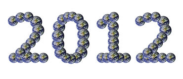 Earth Number text. 2012 new year Royalty Free Stock Photography