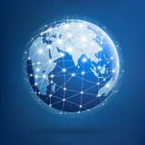 Earth Of Global Networks, Illustration Royalty Free Stock Image
