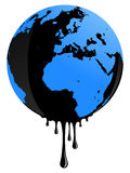 Earth oil pollution vector illustration