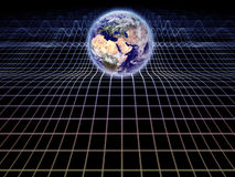 Earth On Grid Royalty Free Stock Image