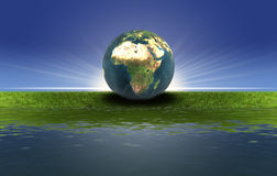 Free Earth On The Green Grass Royalty Free Stock Photos - 11688028