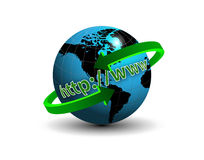 Earth online http www Royalty Free Stock Images