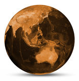 Earth orange map Royalty Free Stock Image