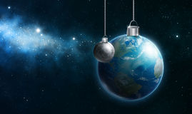 Earth Ornament. The earth as an ornament hanging in space Stock Photography