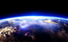 The Earth. Our blue planet, alone in the dark  space Royalty Free Stock Image