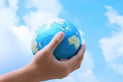 The earth in our hand Stock Photography