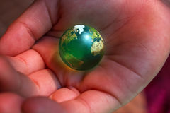 Earth on Our Hands Royalty Free Stock Photography