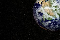 Earth and outer space Stock Images