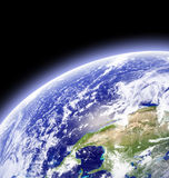 Earth in outer space stock images