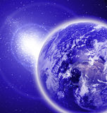 Earth in outer space royalty free stock photo