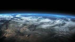 Earth - outer space footage of planet Earth stock video