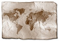 Earth on paper royalty free stock photography