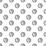 Earth pattern seamless vector illustration