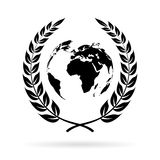 Earth peace symbol Royalty Free Stock Photography